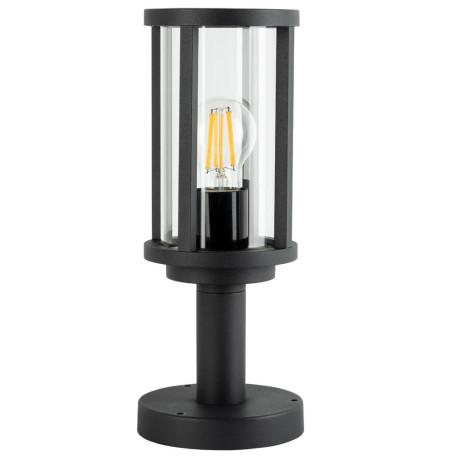 Садово-парковый светильник Arte Lamp Toronto A1036FN-1BK, IP54, 1xE27x40W, черный, прозрачный, металл, стекло