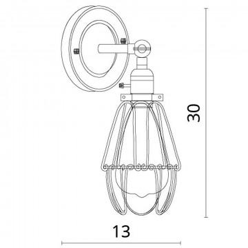 Схема с размерами Divinare 2247/03 AP-1