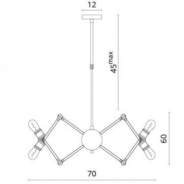Схема с размерами Divinare 3037/03 SP-8