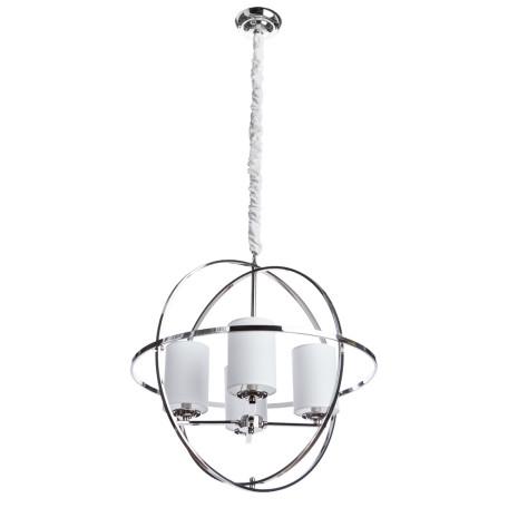 Подвесная люстра Divinare Spazio 1159/01 LM-4, 4xE14x40W, никель, металл, текстиль
