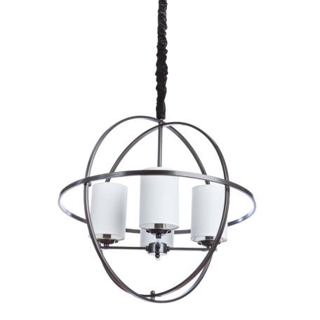 Подвесная люстра Divinare Spazio 1159/02 LM-4, 4xE14x40W, черный, черно-белый, металл, текстиль