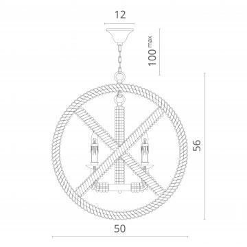 Схема с размерами Divinare 8103/01 SP-5