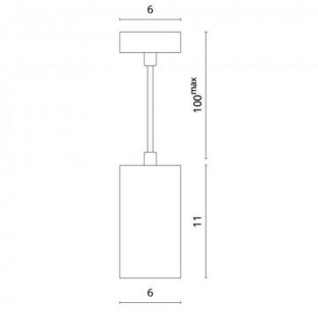 Схема с размерами Divinare 1359/03 SP-1
