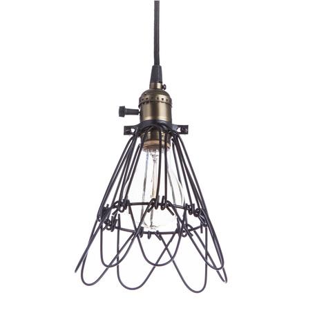 Подвесной светильник Divinare Corsetto 2247/03 SP-1, 1xE27x40W, бронза, черный, металл