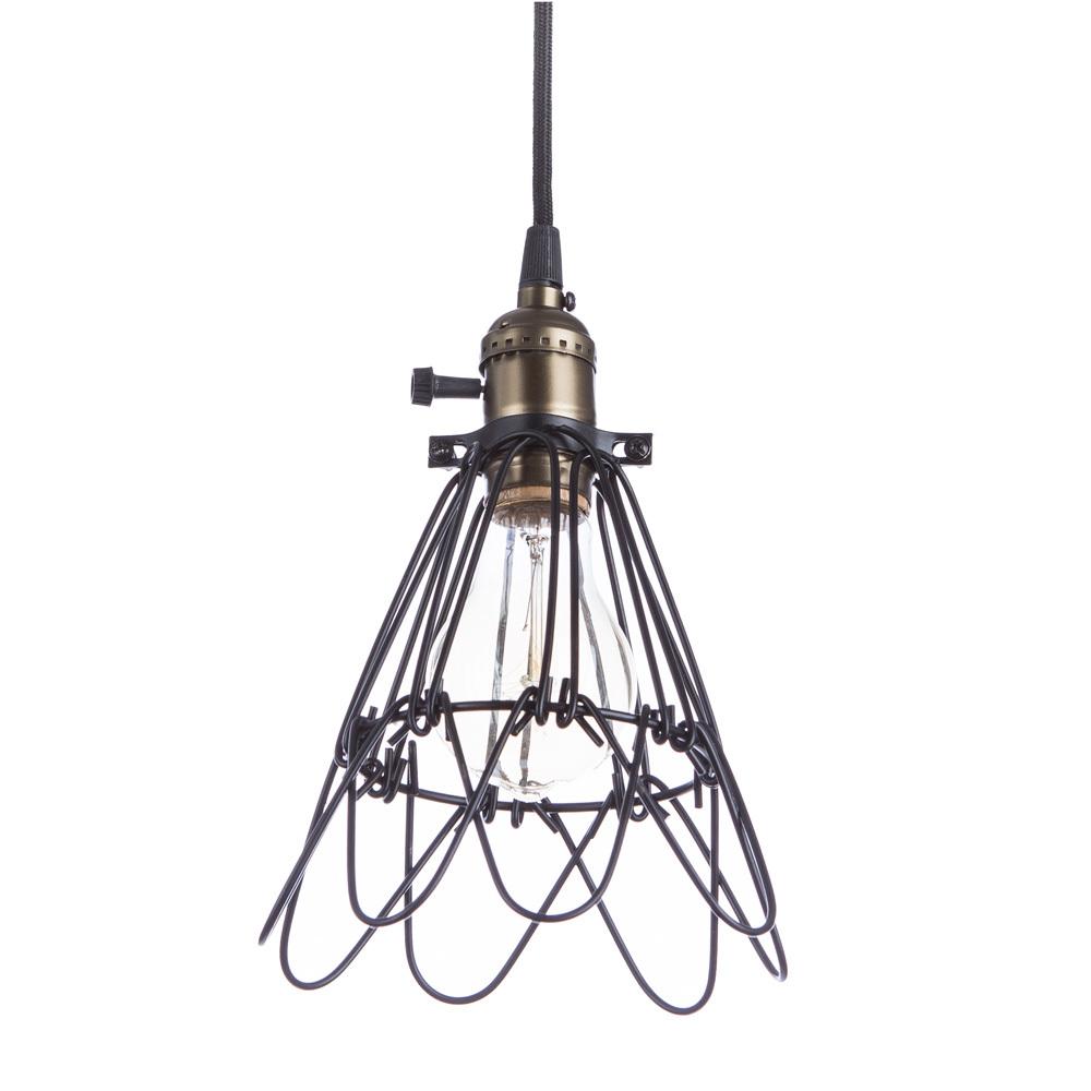 Подвесной светильник Divinare Corsetto 2247/03 SP-1, 1xE27x40W, бронза, черный, металл - фото 1