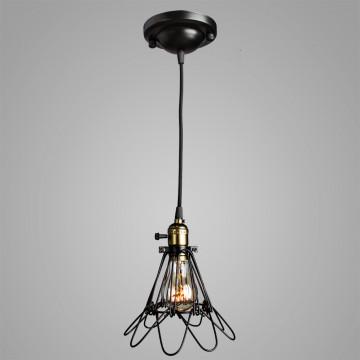 Подвесной светильник Divinare Corsetto 2247/03 SP-1, 1xE27x40W, бронза, черный, металл - миниатюра 2