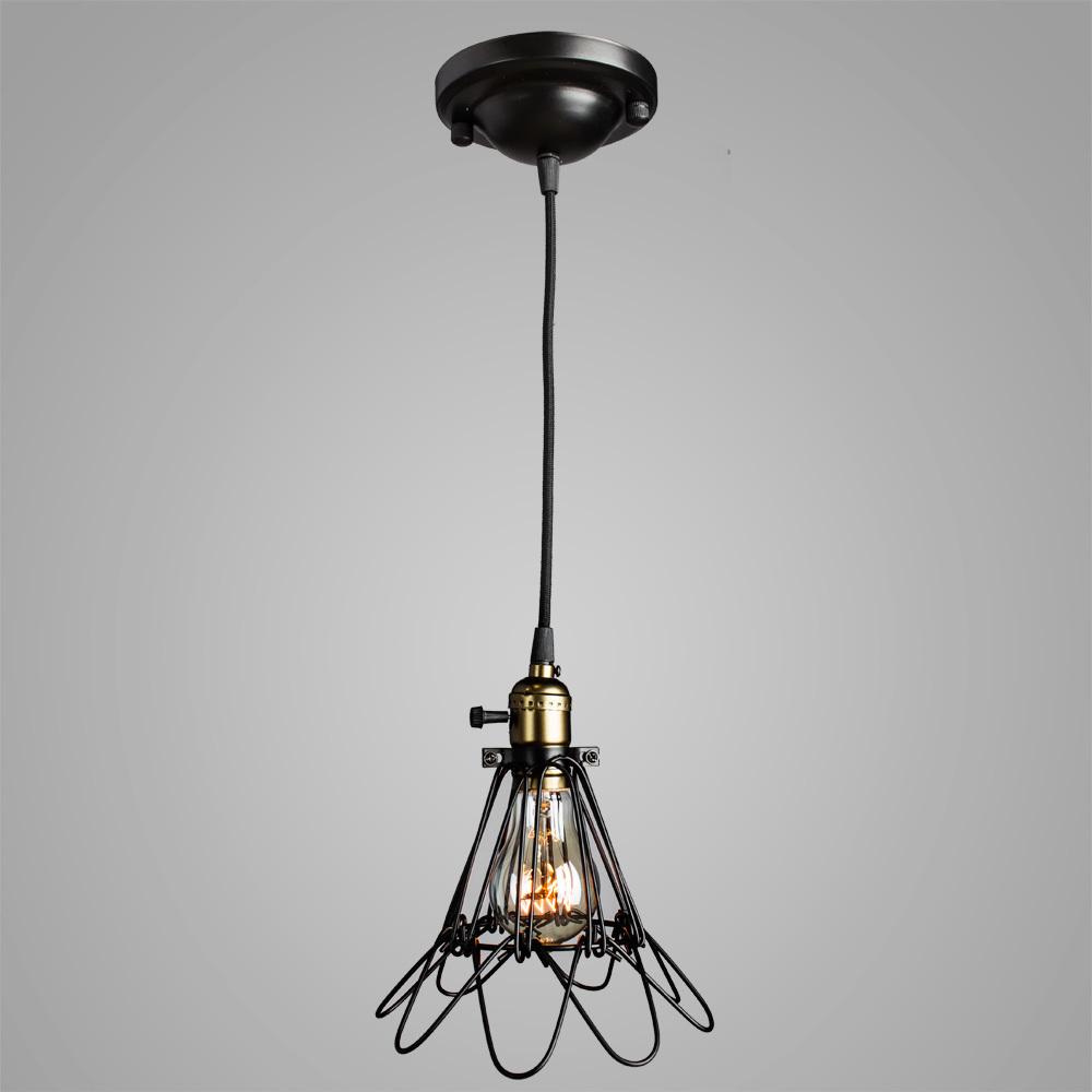 Подвесной светильник Divinare Corsetto 2247/03 SP-1, 1xE27x40W, бронза, черный, металл - фото 2
