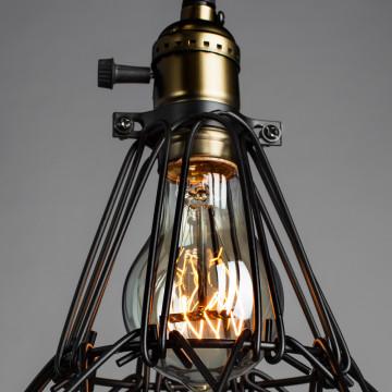 Подвесной светильник Divinare Corsetto 2247/03 SP-1, 1xE27x40W, бронза, черный, металл - миниатюра 4