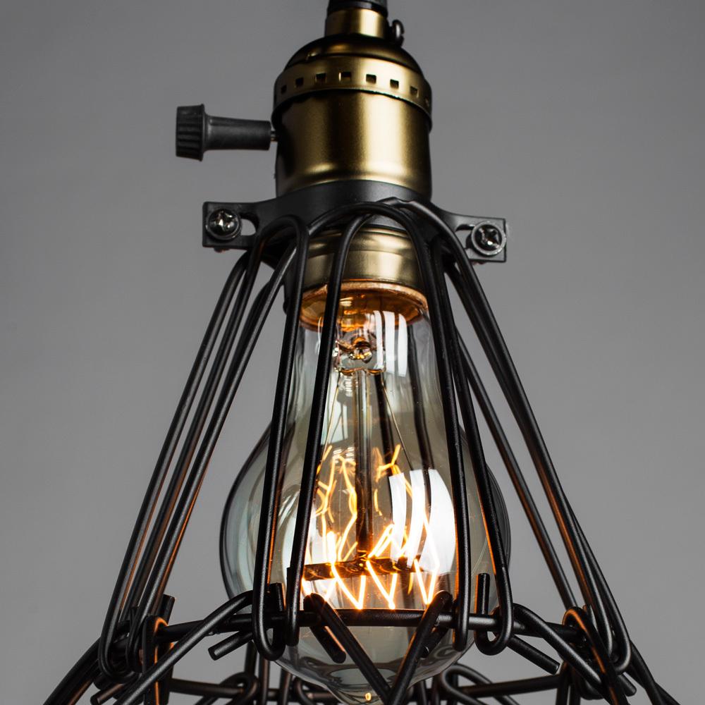 Подвесной светильник Divinare Corsetto 2247/03 SP-1, 1xE27x40W, бронза, черный, металл - фото 4
