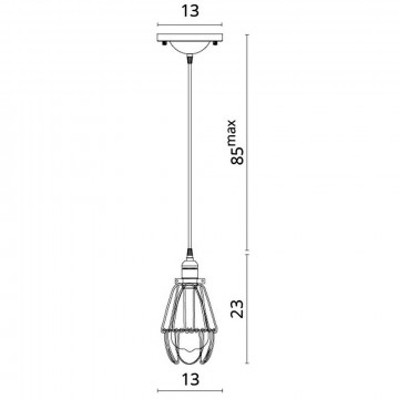 Схема с размерами Divinare 2247/03 SP-1