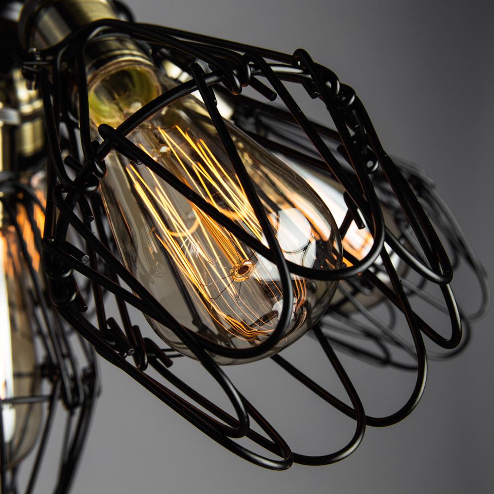 Потолочная люстра Divinare Corsetto 2247/03 PL-6, 5xE27x40W, бронза, черный, металл - фото 4