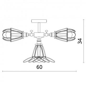 Схема с размерами Divinare 2247/03 PL-6