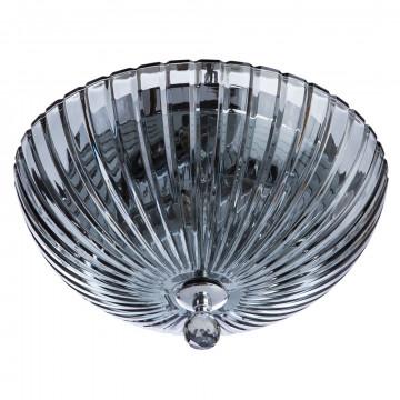 Потолочный светильник Divinare Lianto 4001/03 PL-2, 2xE14x60W, хром, дымчатый, металл, стекло