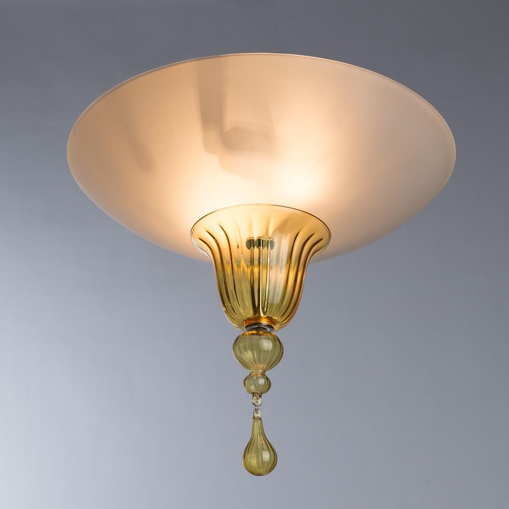 Потолочный светильник Divinare Goccia 4002/01 PL-2, 2xE14x60W, хром, белый, янтарь, металл, стекло - фото 2