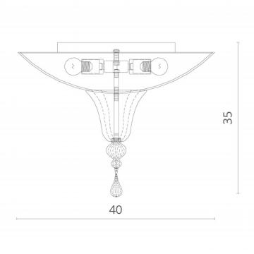 Схема с размерами Divinare 4002/01 PL-2