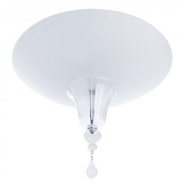 Потолочный светильник Divinare Goccia 4002/02 PL-3, 3xE14x60W, хром, белый, прозрачный, металл, стекло