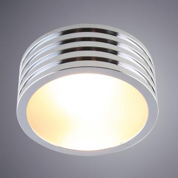 Потолочный светильник Divinare Cervantes 1349/02 PL-1, IP44, 1xG9x50W, хром, металл со стеклом