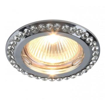 Встраиваемый светильник Divinare Gianetta 1405/02 PL-1, 1xGU5.3x50W, прозрачный, хром, металл, хрусталь