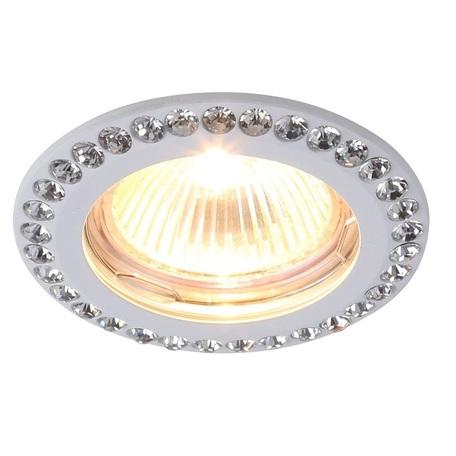 Встраиваемый светильник Divinare Gianetta 1405/03 PL-1, 1xGU5.3x50W, белый, прозрачный, металл, хрусталь - миниатюра 1