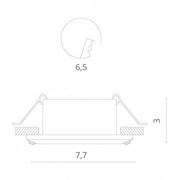 Схема с размерами Divinare 1405/03 PL-1