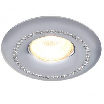 Встраиваемый светильник Divinare Lisetta 1768/02 PL-1, белый, прозрачный, металл, хрусталь