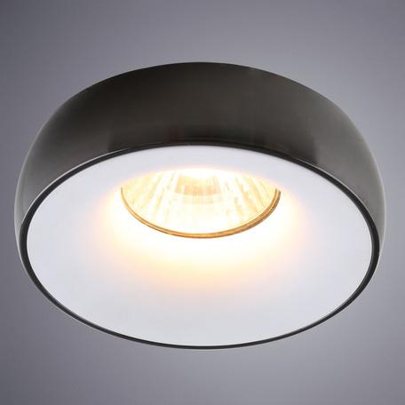 Встраиваемый светильник Divinare Romolla 1827/04 PL-1, 1xGU5.3x50W, черный, черно-белый, металл