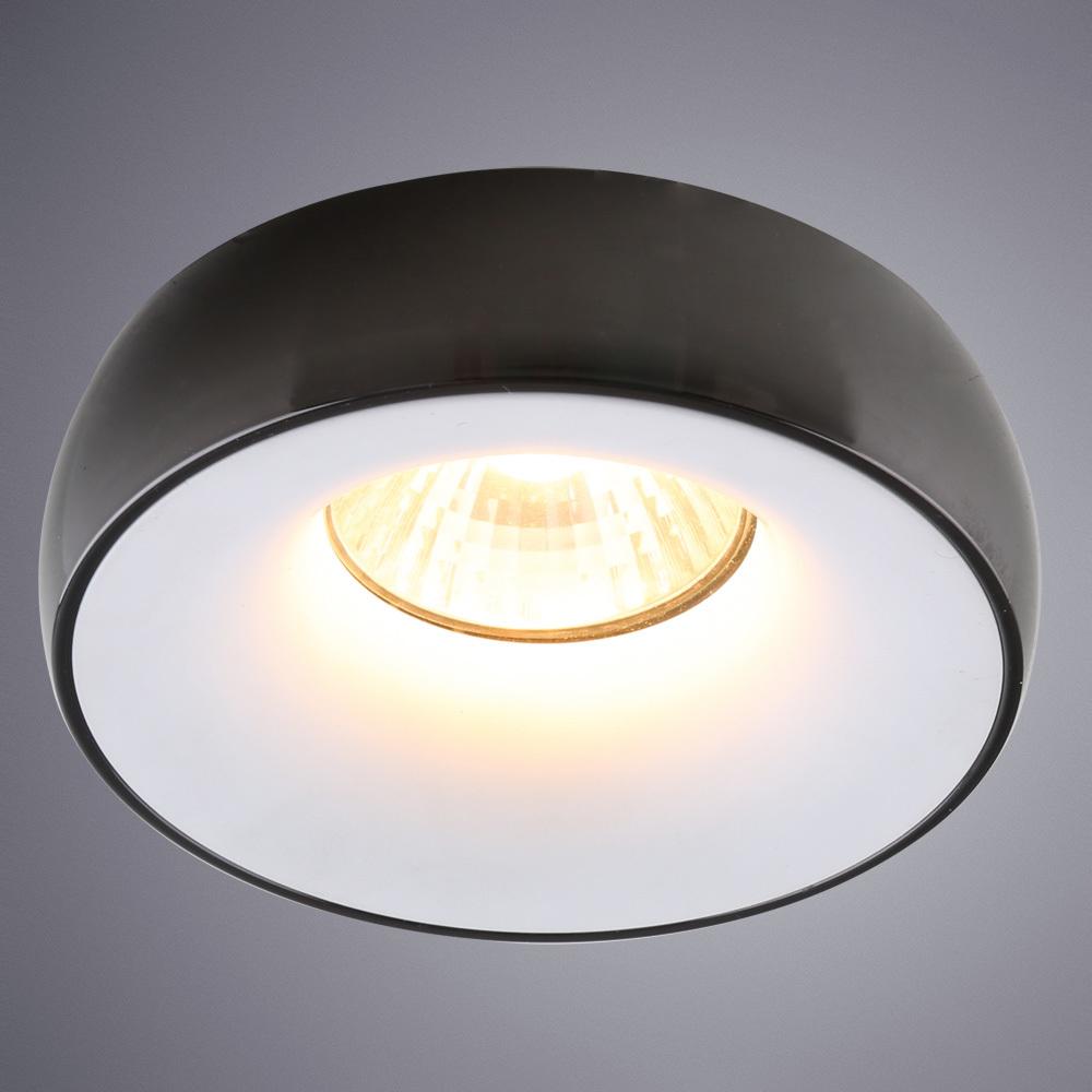 Встраиваемый светильник Divinare Romolla 1827/04 PL-1, 1xGU5.3x50W, черный, черно-белый, металл - фото 1