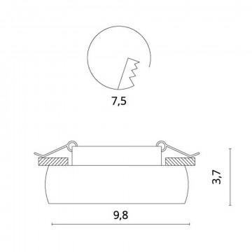Схема с размерами Divinare 1827/04 PL-1
