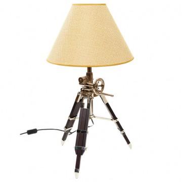 Настольная лампа Loft It Tripod LOFT 7012, 1xE27x60W, коричневый, бежевый, дерево, текстиль