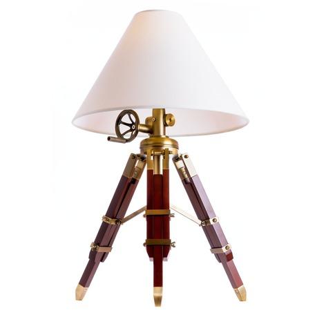 Настольная лампа Loft It Tripod LOFT7012-BR, 1xE27x60W, бордовый, белый, дерево, текстиль
