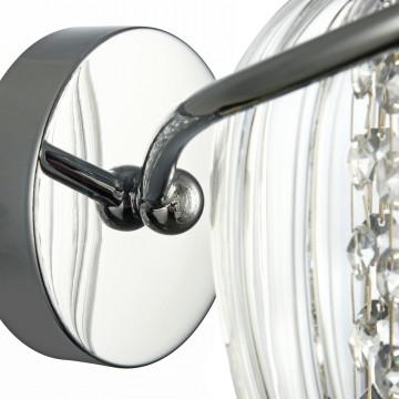 Бра Maytoni Blues MOD044-WL-01-N (f004-wl-01-n), 1xE14x60W, никель, прозрачный, металл, стекло, хрусталь - миниатюра 6