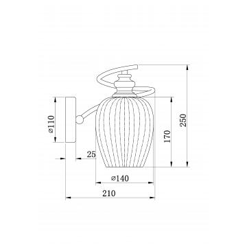 Схема с размерами Maytoni MOD044-WL-01-N