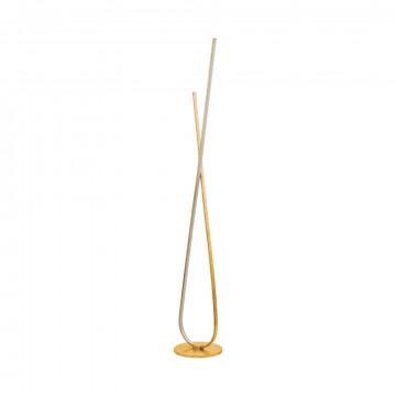 Светодиодный торшер Eglo Miraflores 97747, LED 25W 3000K 3200lm, золото, металл, металл с пластиком, пластик
