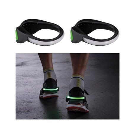 Светодиодное браслет на кроссовки со светодиодной подсветкой Paulmann Shoe Clip 70972, LED 0,2W, черно-белый, черный, пластик