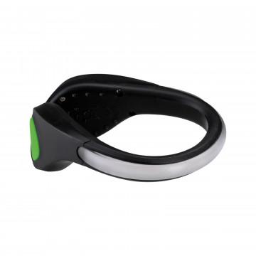 Светодиодное браслет на кроссовки со светодиодной подсветкой Paulmann Shoe Clip 70972, LED 0,2W, черно-белый, черный, пластик - миниатюра 3