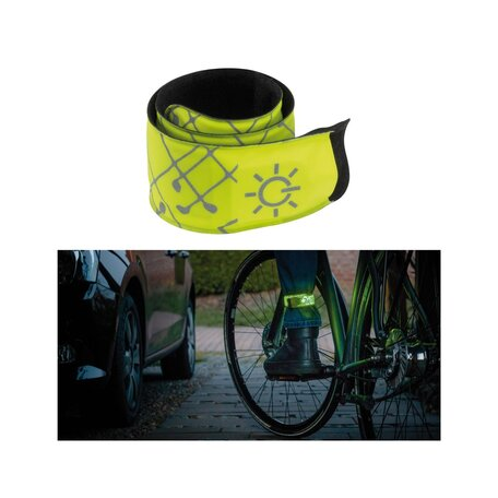 Светодиодное браслет со светодиодной подсветкой Paulmann Snap Band white nylon green 70971, LED 0,2W, желтый, пластик