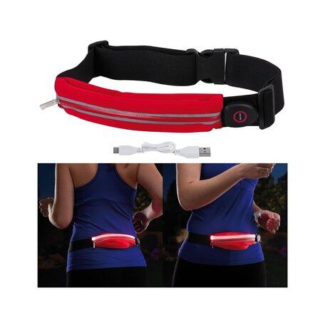 Сумка на талию со светодиодной подсветкой Paulmann Waist bag red rechargeable 70968, LED 0,4W, черный, розовый, текстиль