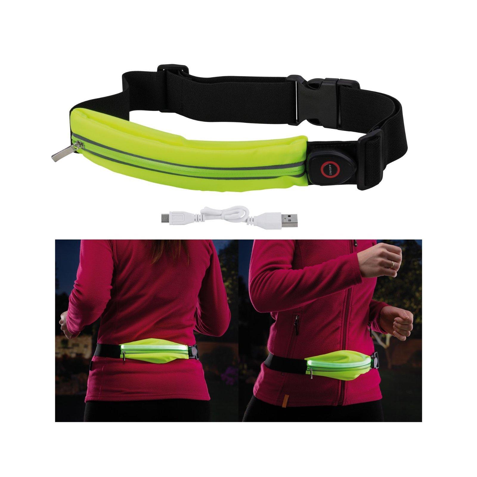 Сумка на талию со светодиодной подсветкой Paulmann Waist bag yellow rechargeable 70969, LED 0,4W, черный, зеленый, текстиль - фото 1
