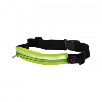 Сумка на талию со светодиодной подсветкой Paulmann Waist bag yellow rechargeable 70969, LED 0,4W, черный, зеленый, текстиль - миниатюра 2