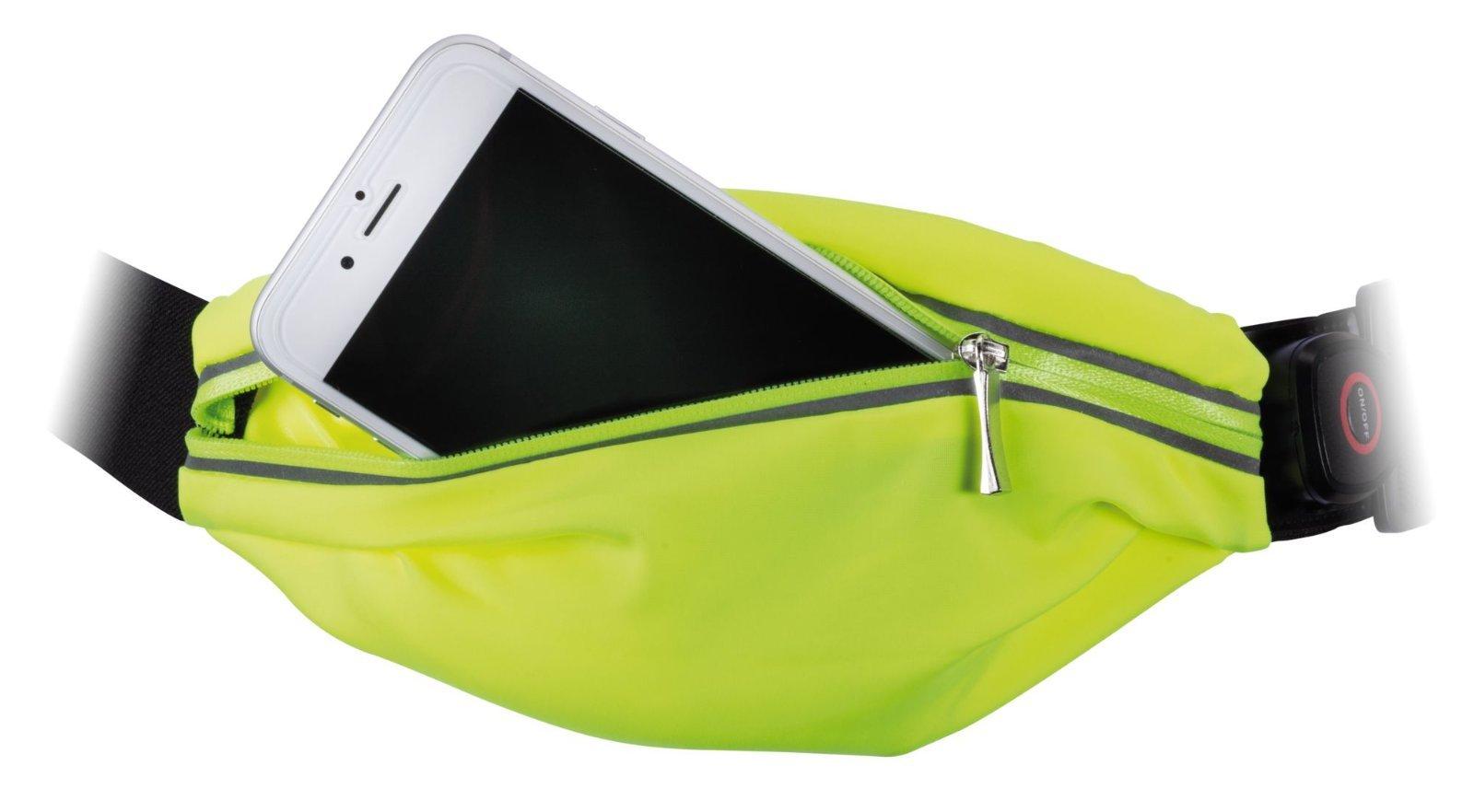 Сумка на талию со светодиодной подсветкой Paulmann Waist bag yellow rechargeable 70969, LED 0,4W, черный, зеленый, текстиль - фото 3