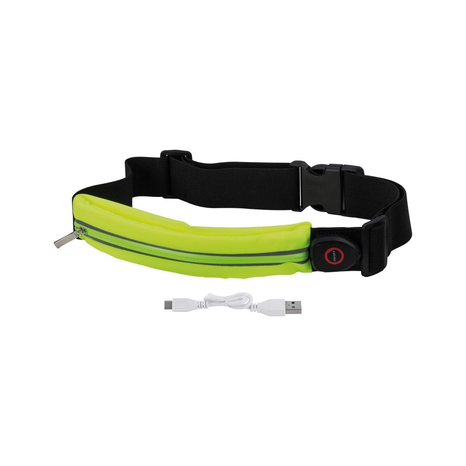 Сумка на талию со светодиодной подсветкой Paulmann Waist bag yellow rechargeable 70969, LED 0,4W, черный, зеленый, текстиль - фото 5