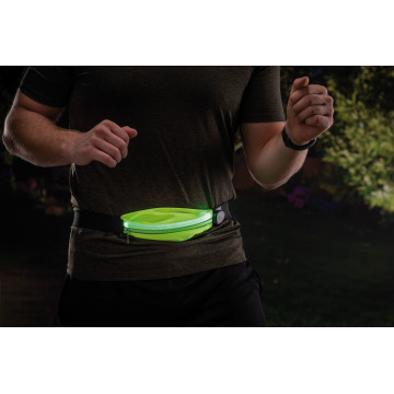 Сумка на талию со светодиодной подсветкой Paulmann Waist bag yellow rechargeable 70969, LED 0,4W, черный, зеленый, текстиль - миниатюра 7