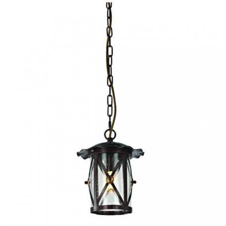 Подвесной светильник L'Arte Luce Fabrizia L12111.88, IP23, 1xE27x60W, коричневый, прозрачный, металл, стекло