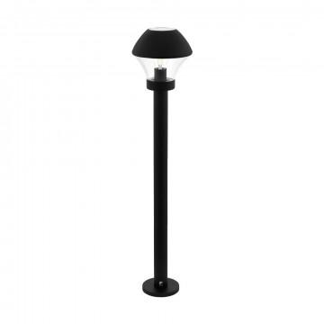 Садово-парковый светильник Eglo Verlucca 97245, IP44, 1xE27x60W, черный, прозрачный, металл, металл со стеклом