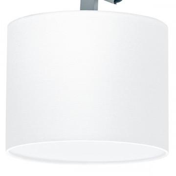 Потолочный светильник с регулировкой направления света на складной штанге Lightstar Meccano 766019, 1xE27x60W, матовый хром, белый, металл, текстиль