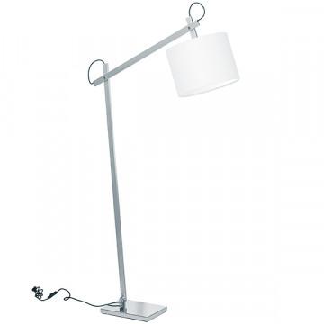 Торшер Lightstar Meccano 766719, 1xE27x60W, матовый хром, белый, металл, текстиль