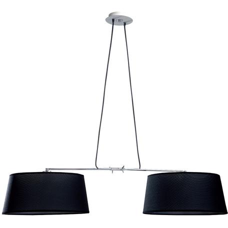 Подвесной светильник Mantra Habana 5306+5309, белый, черный, металл, текстиль
