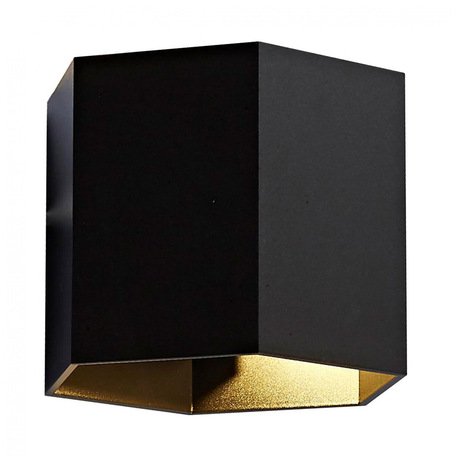 Настенный светильник Zumaline Polygon 20070-BK, 1xG9x40W, черный, металл