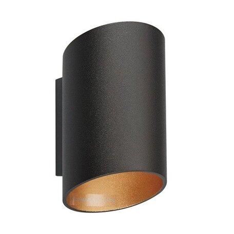 Настенный светильник Zumaline Slice 50603-BK/GD, 1xG9x40W, черный, металл