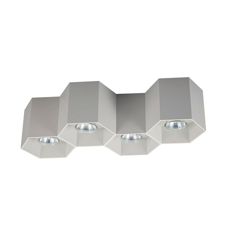 Потолочный светильник Zumaline Polygon 20037-WH, 4xGU10x50W, белый, металл